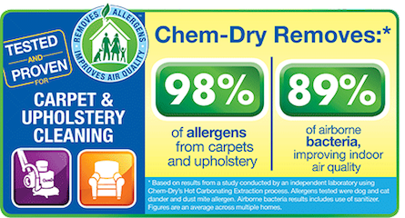 Empire Chem-dry cleans for a healthier home